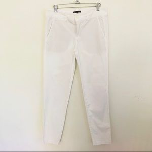 Vince white slim fit chino pants